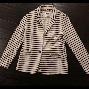 NWOT- OLD Navy Cotton stripped blazer (Medium)